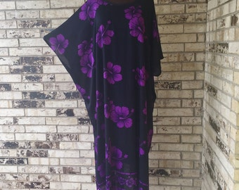 Plus Size Full Length Lightweight Rayon Caftan