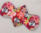 "10.5"" Heavy - Floral Pandas - Reusable Cloth Menstrual Pad (10HC)"
