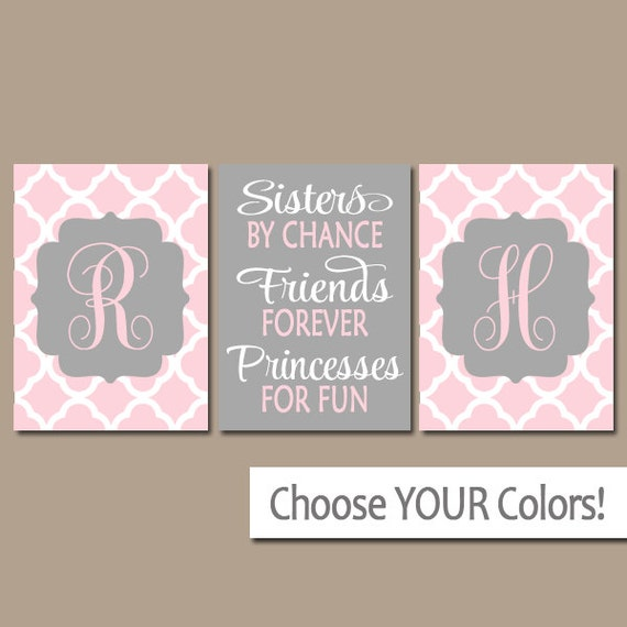 Wall Art Quotes For Sisters : Sisters wall art quote artwork shared girl bedroom pictures