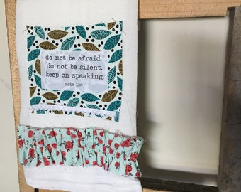 Limited edition acts bible verse  kitchen tea towel