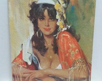 Vintage Girlie Print La Gitana Boho 60s