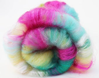 Spinning Fiber Art Batt, 2 oz, Merino, Nylon, Bamboo, Sparkle, and more