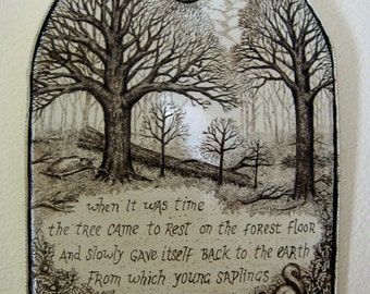 Cycle of life tree inspirational verse  Moosup wall plaque