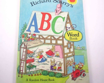 Richard Scarry's ABC Word Book Vintage 1970s Children's Book by Random House