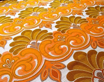 European vintage fabric / curtain / (105 x 165 cm) / 60s / 70s