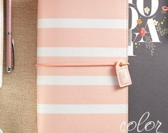 Blush Stripe Color Crush Webster's Pages Travelers Notebook