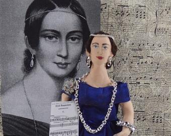 Clara Schumann German Music Composer Miniature Sized Art Doll