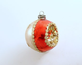 Vintage Christmas Ornament Glass Ornament Indent Germany