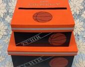 Sports Theme Money Card Box, Basketball card box, baseball card box, bar mitzvah card box, golf theme box, personalized card box