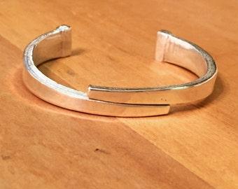 Vintage nail bracelet - silver