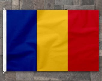 100% Cotton, Stitched Design, Flag of Romania, Made in USA