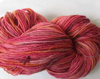 """Plain & Fancy Hand Dyed Yarn """"Red on Red"""" Colorway"""