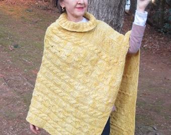 PDF Golden Fleece Asymmetrical Knitted Poncho
