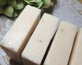 Basil and Spearmint Handmade Cold Processed Soap with Sea Salt Oatmeal Leaves Refreshing Scent 4.5 oz ounces Bath Body Spa Skin Moisturizing