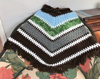 Crochet cool 70's Poncho