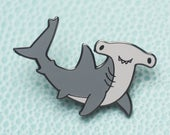 Hammerhead Shark Hard Enamel Lapel Pin