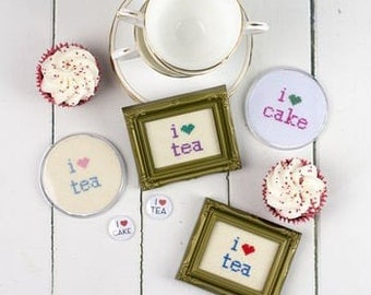 I Love Tea Pin Badge