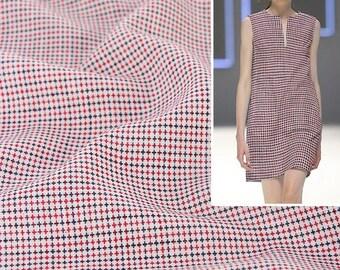 4451 - Cross Jacquard Weave Cotton Linen Blend Fabric - 59 Inch (Width) x 1/2 Yard (Length)
