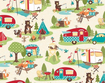 Road Trip Cream Fabric by Riley Blake Designs