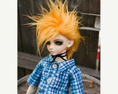 15% OFF Akasarushi Golden YELLOW Color Fur Wig Made for abjd doll size SD Msd tiny yosd and puki