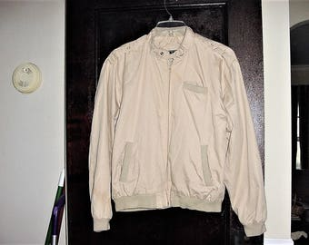 Vintage 80s Mens Beige Jacket MO Style XL Van Cort As Is