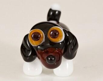 Dachshund Mix Lampwork Dog Bead