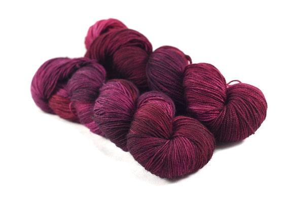 Napa Red - Postcard - deep red sock yarn - yarn for socks - tonal yarn - kettle dyed yarn