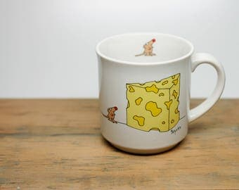 Sandra Boynton Mug - The Big Cheese - Vintage - Recycled Paper Products - Mouse