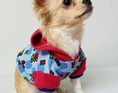 Dog Clothes Fun Bright Hoodie, Chihuahua, Yorkie