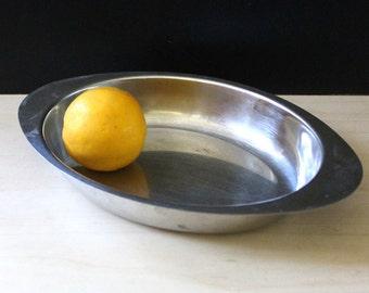 Industria Sweden stainless steel serving dish. Scandinavian modern design.