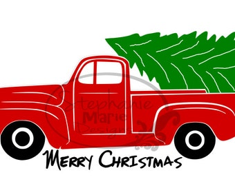 Christmas Truck-SVG Cut File for use with Silhouette Studio Design Edition,Cricut Design Space and others