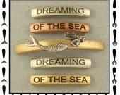 2 Hole Beads Mermaid Dreaming of the Sea Bars OCEAN ~ 3T Metal Sliders QTY 5     (SKU 528507479)
