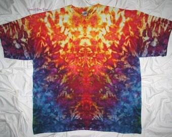 tie dye shirt, 4XL ice dye, tiedye tshirt by grateful dan dyes, trippy inkblot design, inkblot ice dye, funky ice dye, psychedelic tie dye