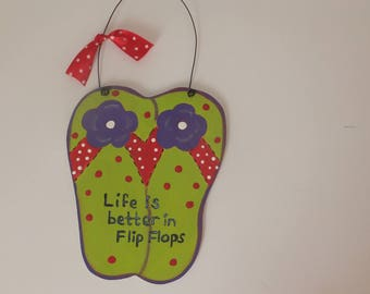 Flip Flop Wall Hanging - Life is Better in Flip Flops