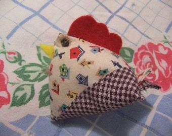 adorable little chicken pin cushion
