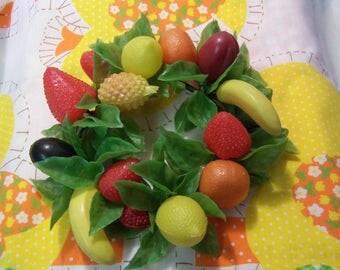 delightful plastic fruit centerpiece