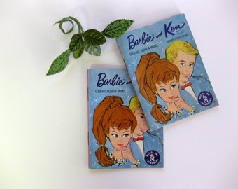 Vintage Barbie and Ken Fashion Booklets by Mattel (2 booklets)
