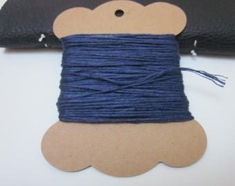 20m Navy Blue Linen Twine