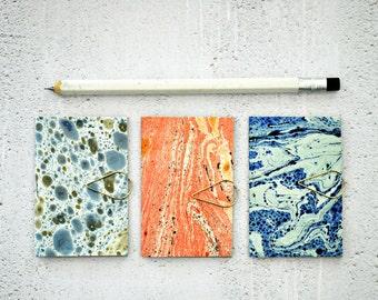 Mini Blank Books {3} Marbled Paper Books | Pocket Notebooks | Mini Books | Mini Journals | Mothers Day | Gift for New Mom | Gift under 10