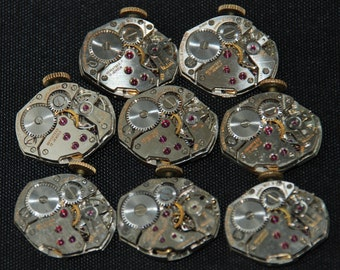 Vintage Watch Movements Parts Steampunk Altered Art Assemblage RE 93