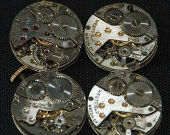 Steampunk Watch Movements Vintage Antique Small Round Watch Movements R 80
