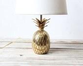 Glam Brass Pineapple Base Lamp