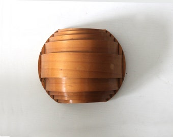 Handmade Sculptural Bent Plywood Wall Sconce