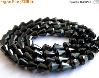 Love You 51% off Sale AAA Black Spinel Gemstone Faceted drop 4 to 5mm Full Strand 70 beads