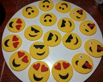 Emoji Edible Cupcake Toppers 1 Dozen