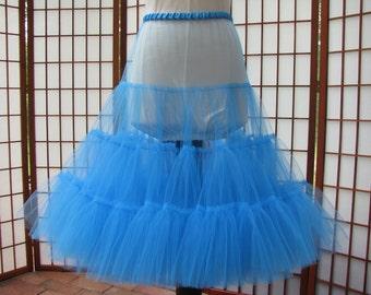 Petticoat Turquoise Blue Tulle -- Custom Order