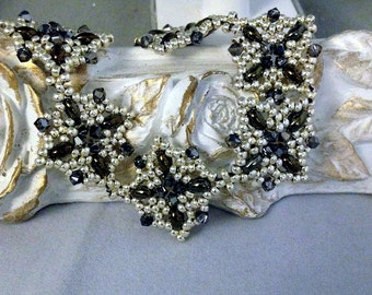 Cathedral Squares Beaded Bracelet