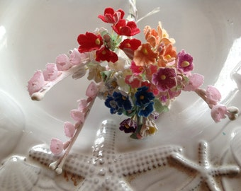 DIY SAMPLER Mothers Day Valentines Day  Easter - Variety Lot  Vintage Millinery Flowers - 10 clusters Forget Me Nots - 3 Lily of the Valley