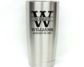 Stainless Steel Tumbler,Personalized Tumbler,Wedding Gifts,Groomsmen Gift,20oz Tumbler,Engraved Tumbler,Corporate Gift,Gift for Him,Polar