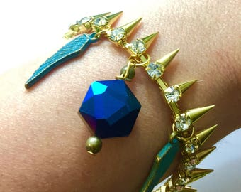 One Hit Wonder - Castiel Super-Charged  Bracelet Supernatural SPNFamily Cas Angel Wings Spikes